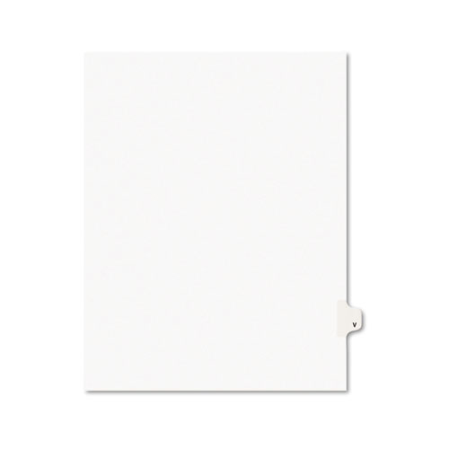 Preprinted Legal Exhibit Side Tab Index Dividers, Avery Style, 26-Tab, V, 11 x 8.5, White, 25/Pack, (1422). Picture 1