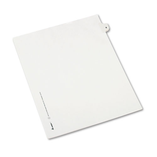 Preprinted Legal Exhibit Side Tab Index Dividers, Avery Style, 26-Tab, X, 11 x 8.5, White, 25/Pack, (1424). Picture 2