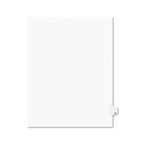 Preprinted Legal Exhibit Side Tab Index Dividers, Avery Style, 26-Tab, X, 11 x 8.5, White, 25/Pack, (1424). Picture 1
