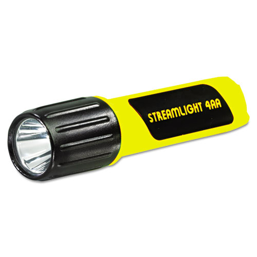 ProPolymer Lux LED Flashlight, 4 AA Batteries (Included), Yellow. Picture 1