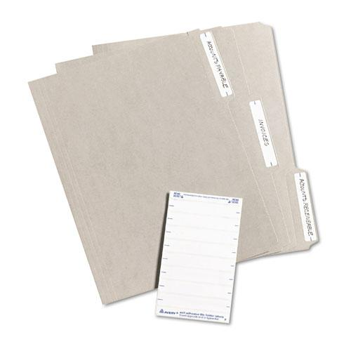 """Printable 4"""" x 6"""" - Permanent File Folder Labels, 0.69 x 3.44, White, 7/Sheet, 36 Sheets/Pack, (5202). Picture 3"""