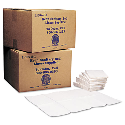 Baby Changing Station Sanitary Bed Liners, 13 x 19, White, 500/Carton. Picture 1