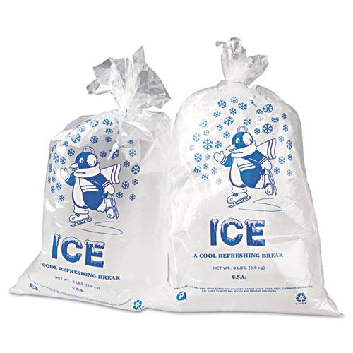 """Ice Bags, 1.5 mil, 11"""" x 20"""", Clear, 1,000/Carton. Picture 2"""
