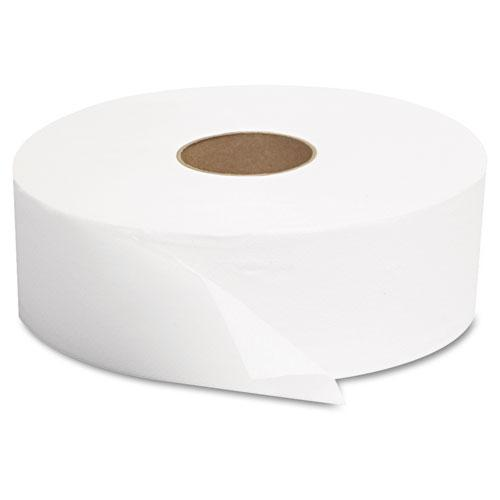 "JRT Jumbo Bath Tissue, Septic Safe, 1-Ply, White, 10"" dia, 6 Rolls/Carton. Picture 2"