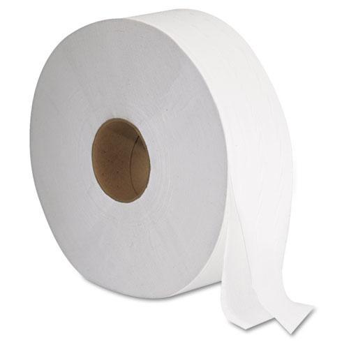 "JRT Jumbo Bath Tissue, Septic Safe, 2-Ply, White, 12"" Diameter, 1,378 ft Length, 6/Carton. Picture 1"