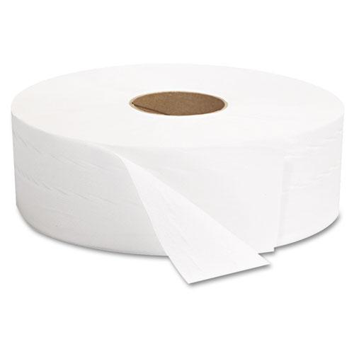 "JRT Jumbo Bath Tissue, Septic Safe, 2-Ply, White, 12"" Diameter, 1,378 ft Length, 6/Carton. Picture 2"