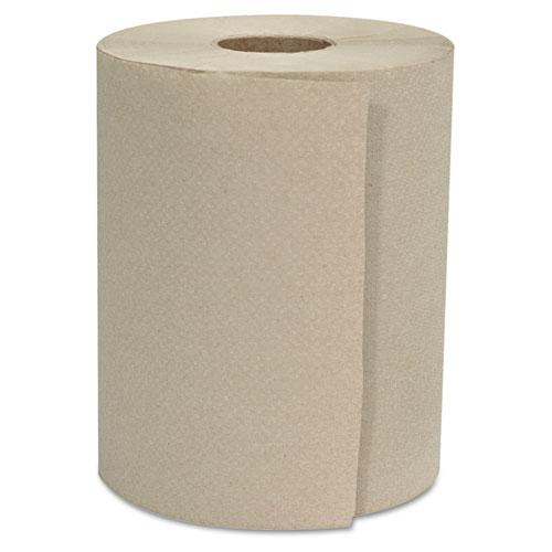 """Hardwound Roll Towels, 1-Ply, Natural, 8"""" x 600 ft, 12 Rolls/Carton. Picture 1"""