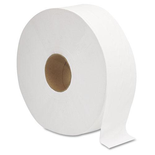 "JRT Jumbo Bath Tissue, Septic Safe, 2-Ply, White, 12"" Diameter, 1,378 ft Length, 6/Carton. Picture 4"