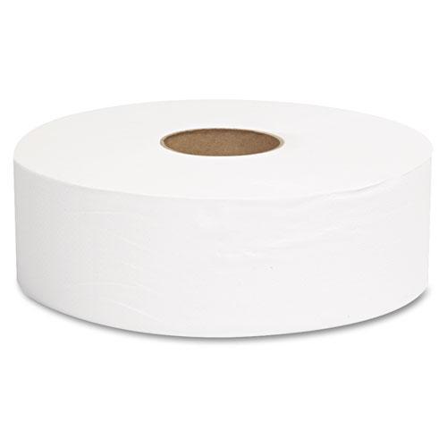 "JRT Jumbo Bath Tissue, Septic Safe, 1-Ply, White, 10"" dia, 6 Rolls/Carton. Picture 3"