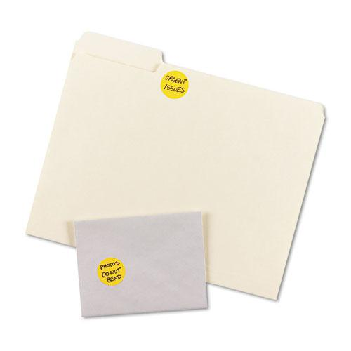 """Printable Self-Adhesive Removable Color-Coding Labels, 1.25"""" dia., Neon Orange, 8/Sheet, 50 Sheets/Pack, (5476). Picture 2"""