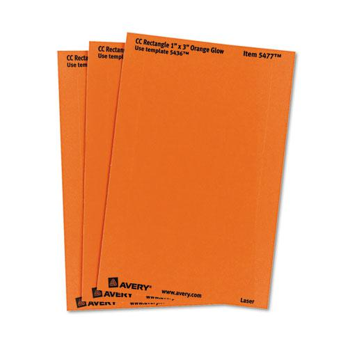 Printable Self-Adhesive Removable Color-Coding Labels, 1 x 3, Neon Orange, 5/Sheet, 40 Sheets/Pack, (5477). Picture 3