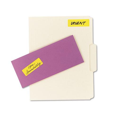 Printable Self-Adhesive Removable Color-Coding Labels, 1 x 3, Neon Orange, 5/Sheet, 40 Sheets/Pack, (5477). Picture 4