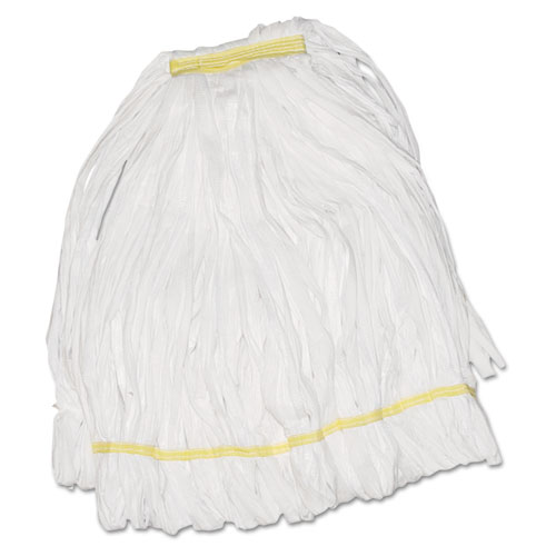 Mop Head, Looped, Enviro Clean With Tailband, Large, White, 12/Carton. Picture 1