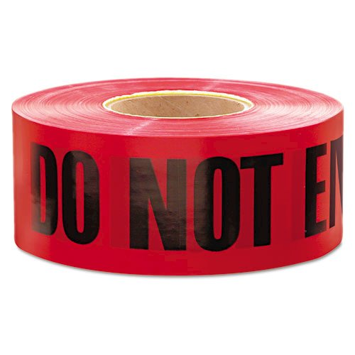 """1,000 ft. x 3 in. """"Danger Do Not Enter"""" Barricade Tape (Red). Picture 1"""