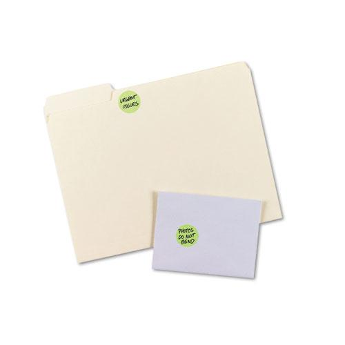 """Printable Self-Adhesive Removable Color-Coding Labels, 1.25"""" dia., Neon Green, 8/Sheet, 50 Sheets/Pack, (5498). Picture 3"""