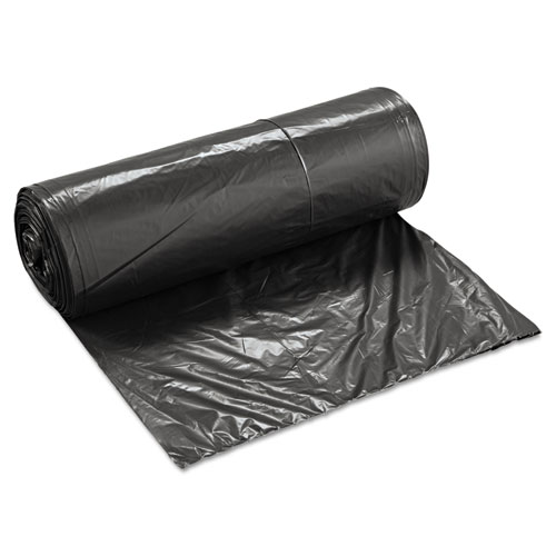 """Low-Density Waste Can Liners, 60 gal, 0.65 mil, 38"""" x 58"""", Black, 100/Carton. Picture 2"""