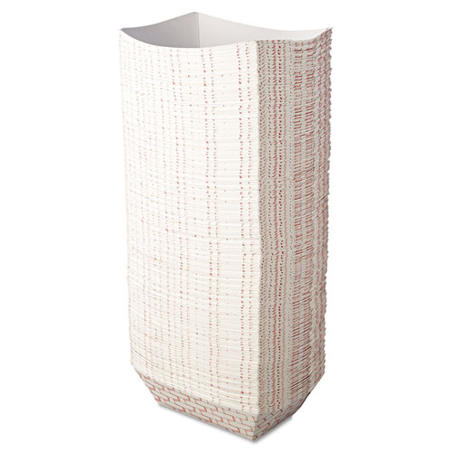 Paper Food Baskets, 3lb Capacity, Red/White, 500/Carton. Picture 3