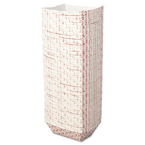 Paper Food Baskets, 1 lb Capacity, Red/White, 1000/Carton. Picture 3