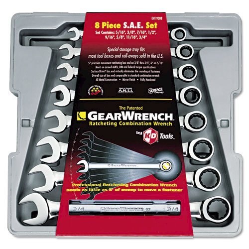 """GearWrench 8-Piece Ratcheting-Box Combo Wrench Set, SAE, 5/16"""" to 3/4"""", 12-Pt Bx. Picture 1"""