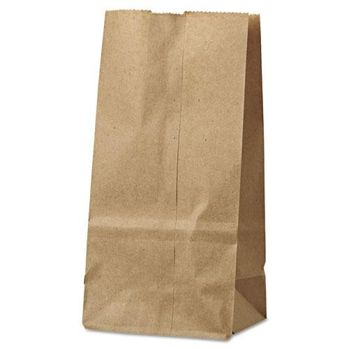 """Grocery Paper Bags, 30 lbs Capacity, #2, 4.31""""w x 2.44""""d x 7.88""""h, Kraft, 500 Bags. Picture 1"""