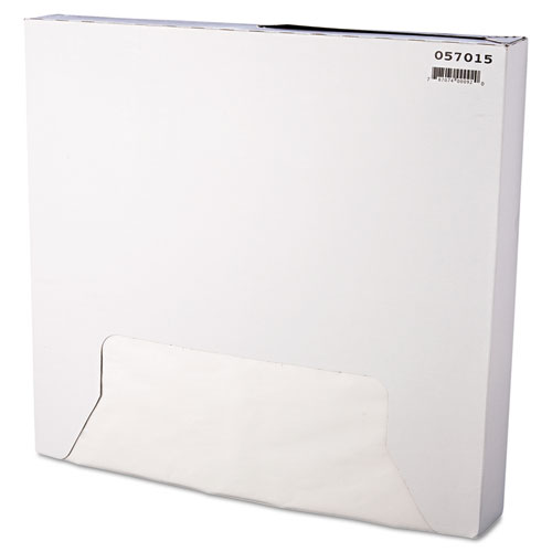 Grease-Resistant Paper Wraps and Liners, 15 x 16, White, 1000/Box, 3 Boxes/Carton. Picture 1