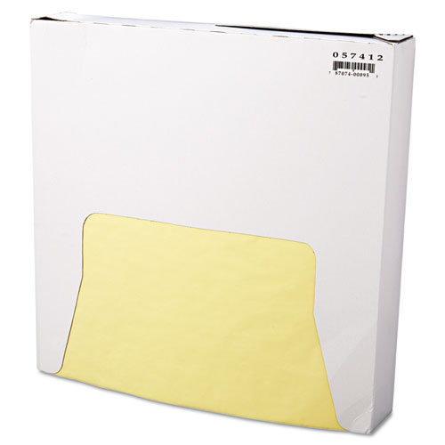 Grease-Resistant Wrap/Liner, 12 x 12, Yellow, 1000/Box, 5 Boxes/Carton. Picture 1