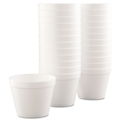 Foam Containers, Foam, 24oz, White, 25/Bag, 20 Bags/Carton. Picture 2