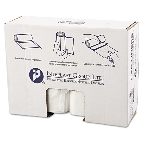 High-Density Can Liner, 38 x 60, 60gal, 17mic, Clear, 25/Roll, 8 Rolls/Carton. Picture 1