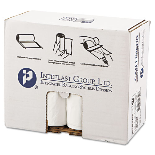 """Low-Density Commercial Can Liners, 30 gal, 0.7 mil, 30"""" x 36"""", White, 200/Carton. Picture 1"""