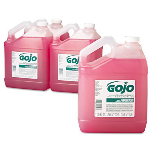 Bulk Pour All-Purpose Pink Lotion Soap, Floral, 1gal Bottle, 4/Carton. Picture 2
