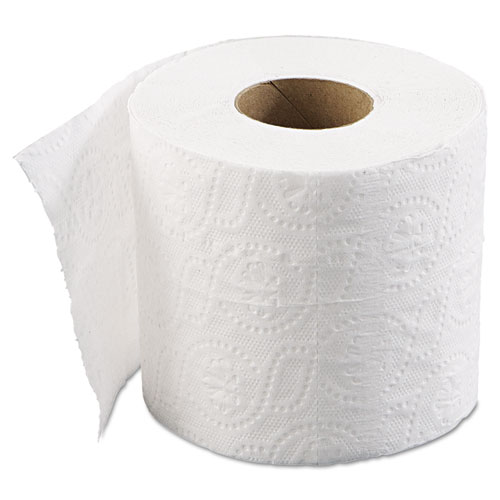 Bathroom Tissue, Standard, Septic Safe, 2-Ply, White, 4 x 3, 500 Sheets/Roll, 96/Carton. Picture 2