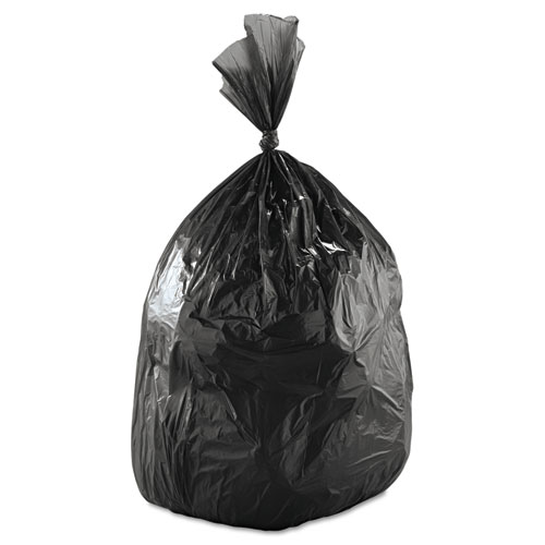 """Low-Density Waste Can Liners, 60 gal, 0.65 mil, 38"""" x 58"""", Black, 100/Carton. Picture 3"""