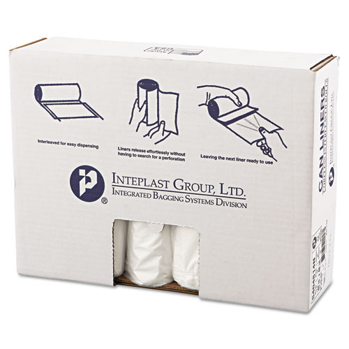 High-Density Can Liner, 40 x 48, 45gal, 14mic, Clear, 25/Roll, 10 Rolls/Carton. Picture 1