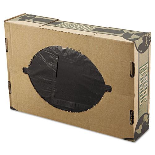 "Low Density Economy Ecosac, 60 gal, 1.54 mil, 38"" x 60"", Black, 100/Carton. Picture 1"