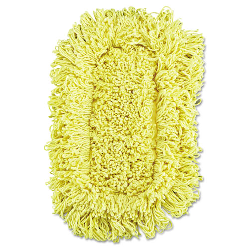 Trapper Looped-End Dust Mop Head, 12 x 5, Yellow, 12/Carton. Picture 1