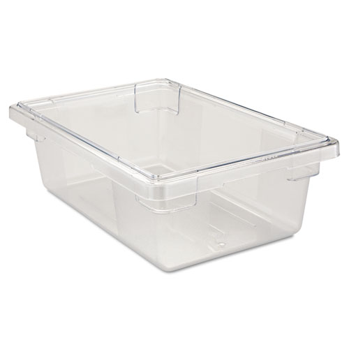 Food/Tote Boxes, 3 1/2gal, 18w x 12d x 6h, Clear. Picture 1