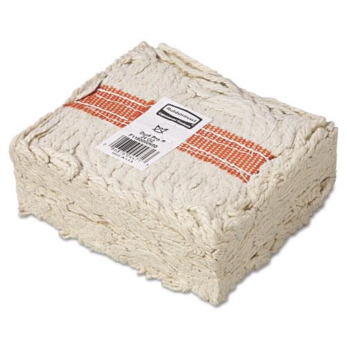 """Premium Cut-End Cotton Wet Mop Head, 24oz, White, 1"""" Orange Band, 12/Carton. Picture 2"""