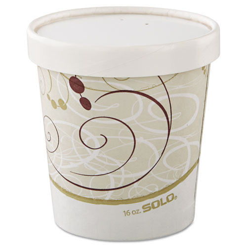 Flexstyle Double Poly Paper Containers, 16 oz, Symphony, 50/Sleeve, 10 Sleeves/Carton. Picture 3