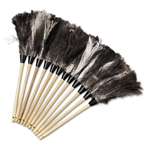 """Professional Ostrich Feather Duster, 13"""" Handle. Picture 2"""