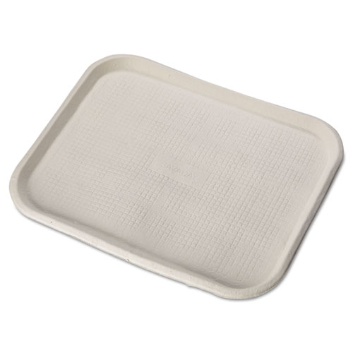 Savaday Molded Fiber Food Trays, 14 x 18, White, Rectangular, 100/Carton. Picture 1