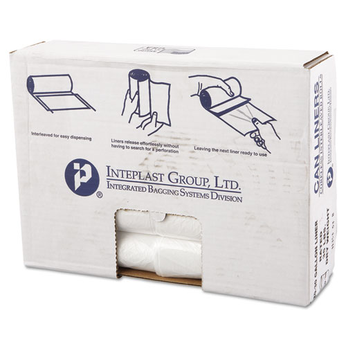 High-Density Can Liner, 30 x 36, 30gal, 11mic, Clear, 25/Roll, 20 Rolls/Carton. Picture 1