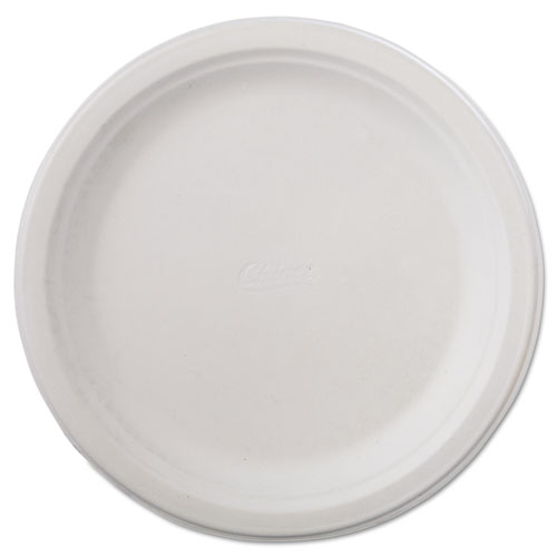 "Classic Paper Dinnerware, Plate, 9 3/4"" dia, White, 125/Pack, 4 Packs/Carton. Picture 1"