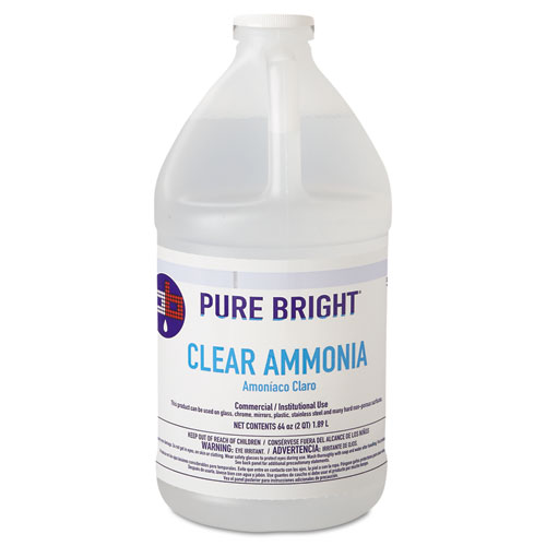 Clear Ammonia, 64 oz Bottle, 8/Carton. Picture 1
