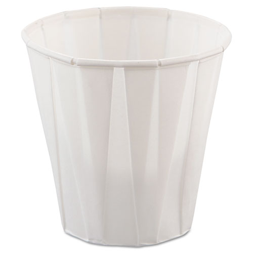 Paper Medical & Dental Treated Cups, 3.5oz, White, 100/Bag, 50 Bags/Carton. Picture 1