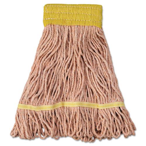 "Super Loop Wet Mop Head, Cotton/Synthetic Fiber, 5"" Headband, Small Size, Orange, 12/Carton. Picture 1"