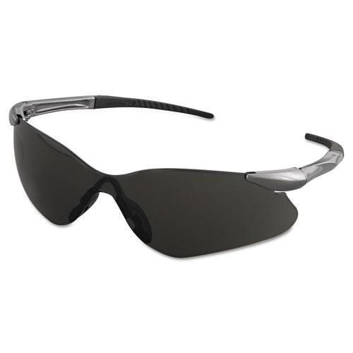 V30 Nemesis VL Safety Glasses, Gun Metal Frame, Smoke Lens. Picture 1