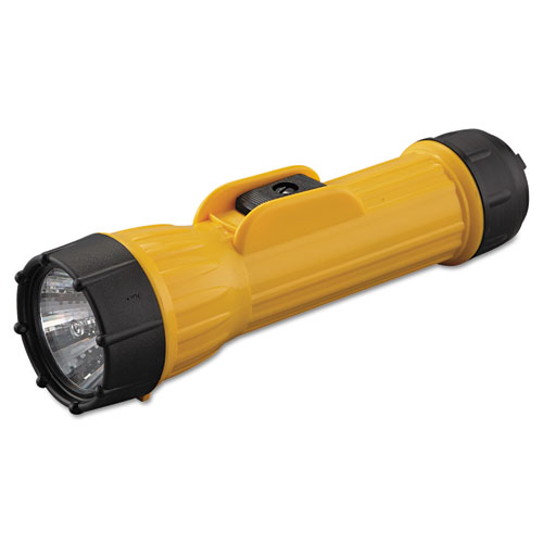 Industrial Heavy-Duty Flashlight, 2 D Batteries (Sold Separately), Yellow/Black. Picture 1