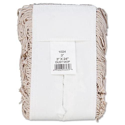 Mop Head, Dust, Cotton, 24 x 3, White. Picture 2