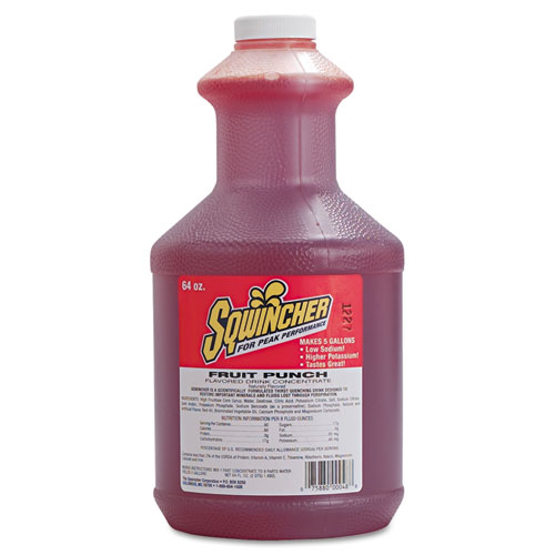 Liquid Concentrate Electrolyte Drink, Fruit Punch, 64oz Bottles, 6/Carton. Picture 1