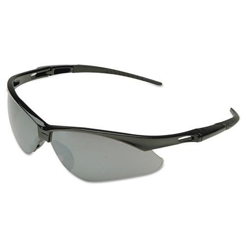 Nemesis Safety Glasses, Black Frame, Amber Lens. Picture 1
